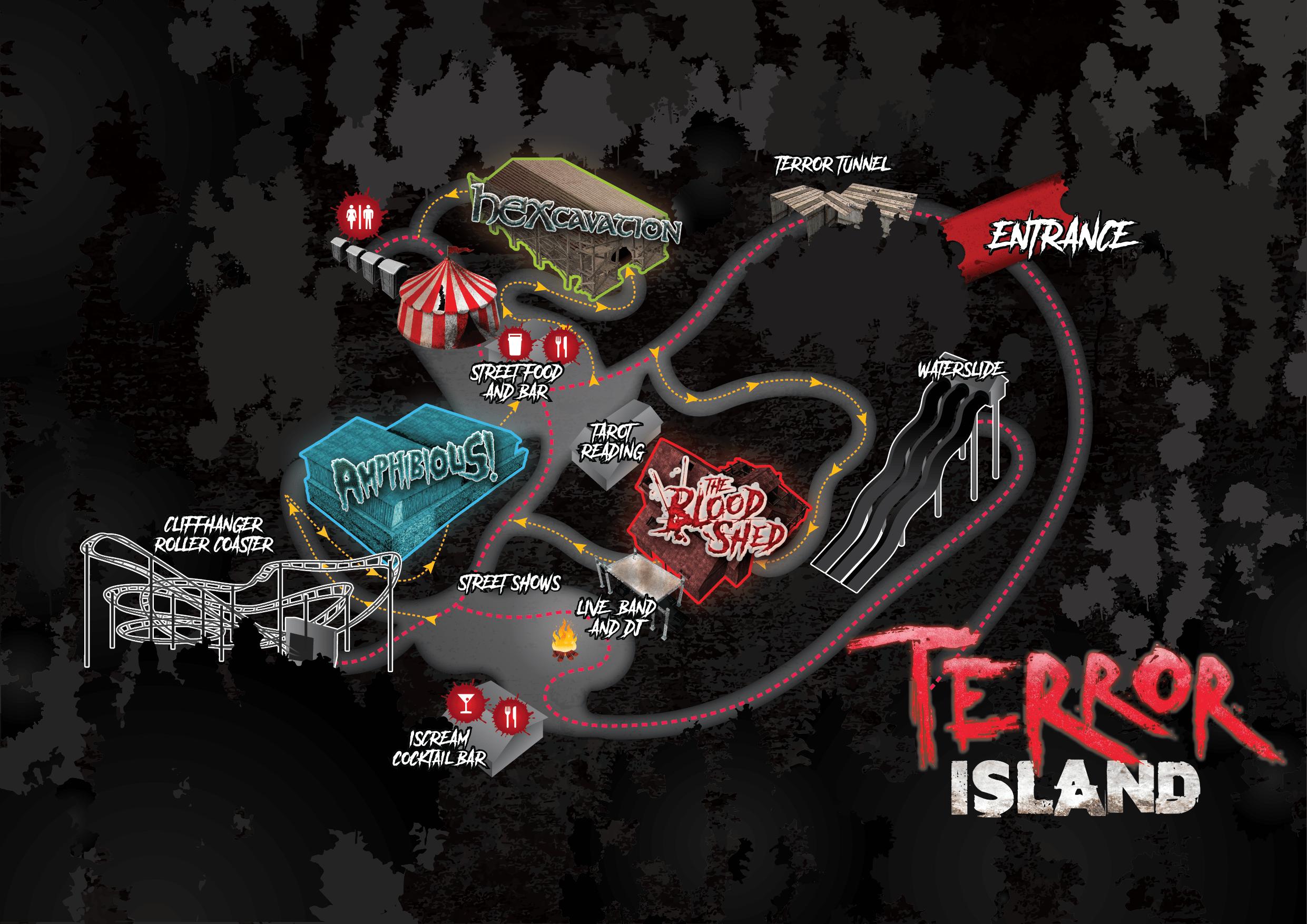 Terror Island Isle of Wight horror scare maze event October Halloween